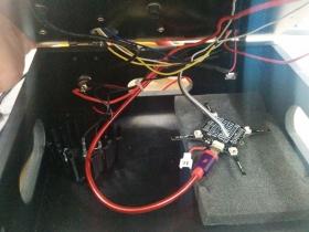 Crazyflie in test rig