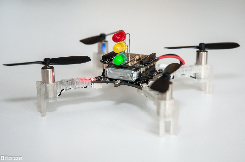 Crazyflie 2.0 prototype expansion with traffic light hack