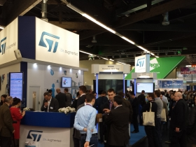 ST Microelectronics booth