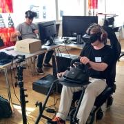 Car racing with Oculus rift