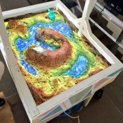 AR sandbox with Kinect and projector