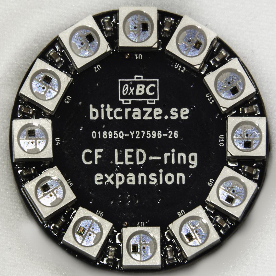 Crazyflie 2.0 LED-ring expansion prototype