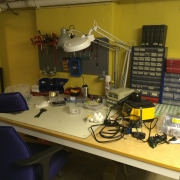 Our new lab. Still need some clean-up.