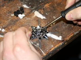 Soldering the motors