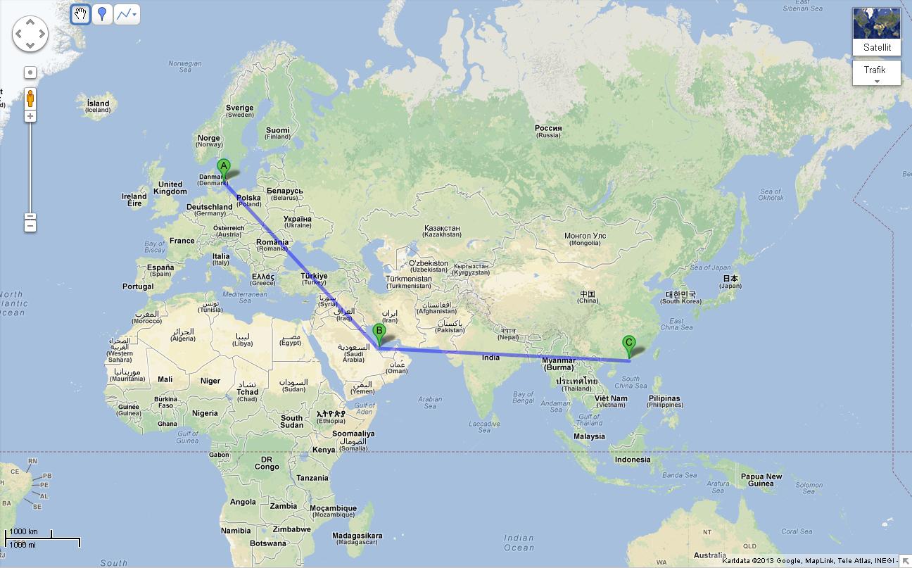 Map Copenhagen Airport To Seeed